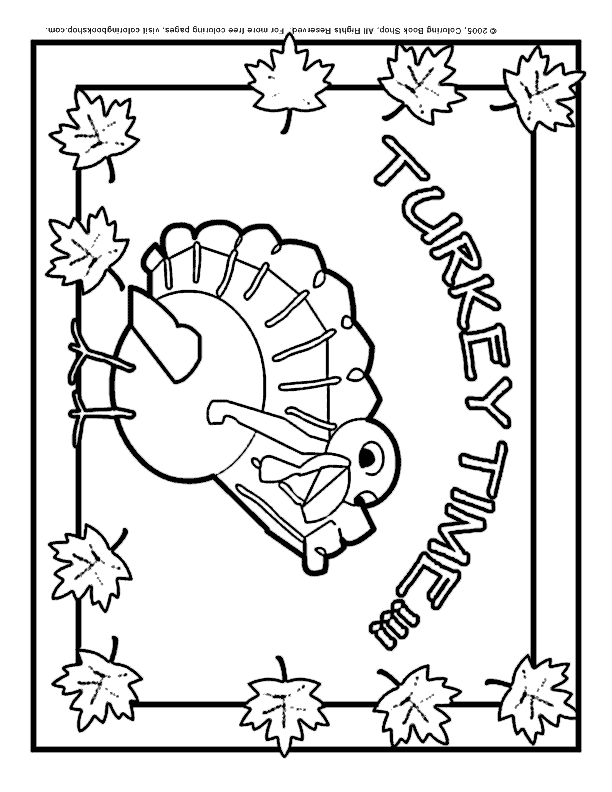 Thanksgiving printable coloring page: Turkey placemat for kids\' table
