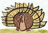 wild turkey coloring page for thanksgiving page header